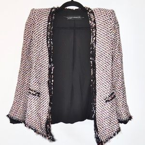 ••zara multicolored blazer with stud detail••